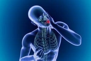 Arthrose im Kiefergelenk ist schmerzhaft.