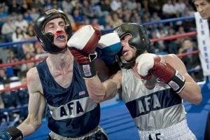 Zahnschutz oder Mundschutz beim Boxen