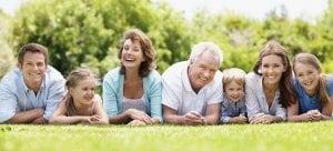 family with good teeth
