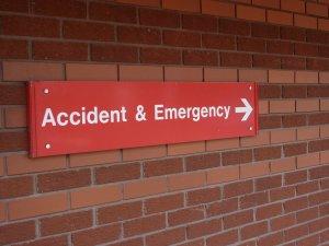 dental hospital A&E sign
