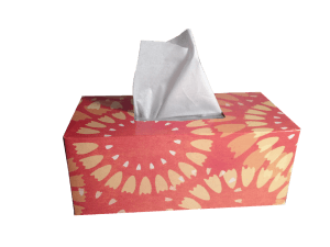 tissues to dry mouth