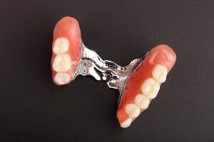metal partial denture for back teeth