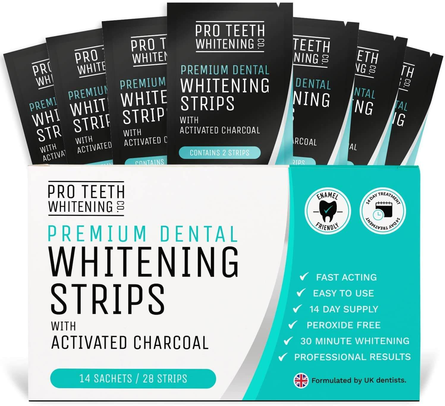 whitening strips with activated charcoal