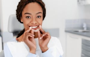 woman at invisalign appointment