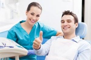 Paciente en consulta odontologica