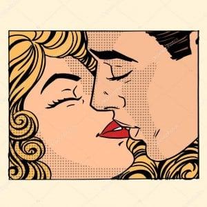 Los besos pueden ser una vía de contagio entre el herpes labial y el herpes genital.