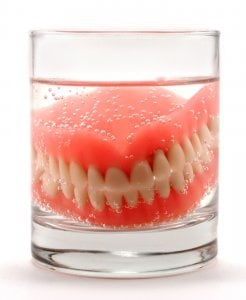 cleaning artificial teeth