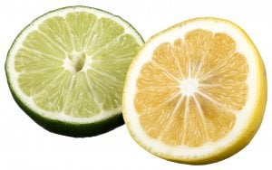 dental pain relief from lemons and limes