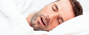 man sleeping with an open mouth
