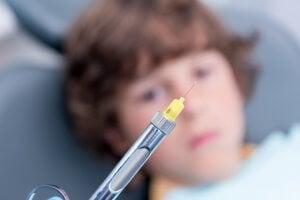 enfants et anesthésie dentaire